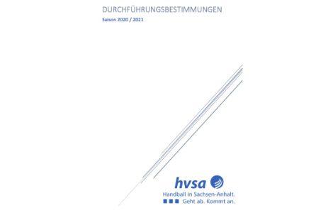 Durchführungsbestimmungen des HVSA und deren Spielbezirke für die Saison 2020/2021