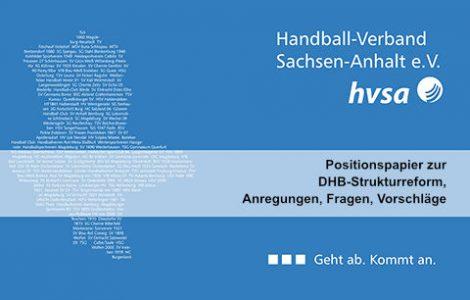 HVSA-Präsidium beschließt Positionspapier zur DHB Strukturreform und handball.net