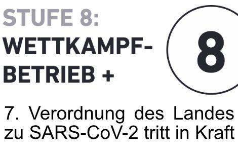 """7. Verordnung des Landes zur Eindämmung von SARS-CoV-2 tritt in Kraft – Stufe 8 des """"8-Stufenplans DHB"""" ist erreicht"""