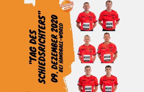 """Am 09.12.2020 ist """"Tag des Schiedsrichters"""" auf handball-world.com"""